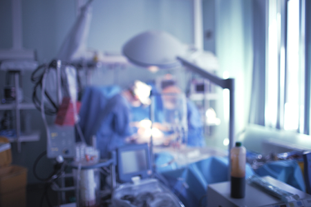 Unfocused background of an ICU work.