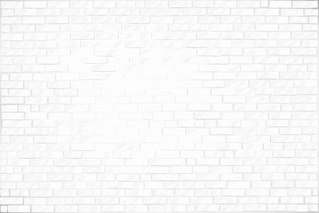 Illustration pour White light brickwork on the wall. vector background - image libre de droit