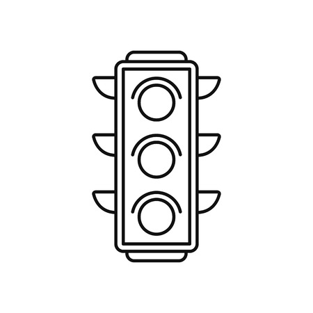 Illustration for Traffic light icon in thin line style - Royalty Free Image