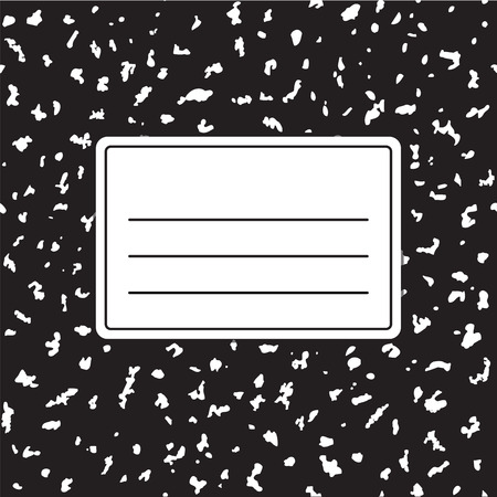 Illustration pour Traditional notebook cover template vector illustration. Background texture is tileable and seamless. - image libre de droit