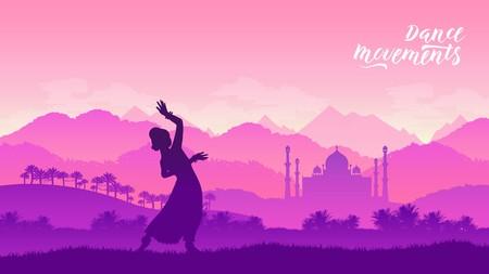 Illustration pour Beautiful indian girl dancer concept - image libre de droit