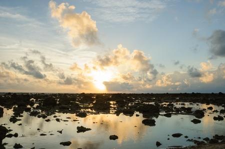 Silhouette Beach At Sunrise