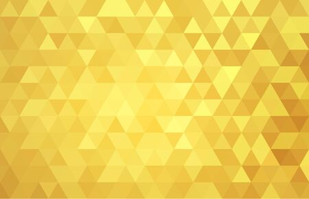 Illustration for geometric abstract gold yellow   triangle vector .background texture . - Royalty Free Image