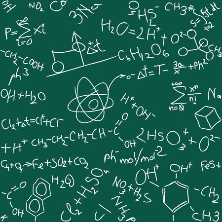 illustration of seamless chemistry background