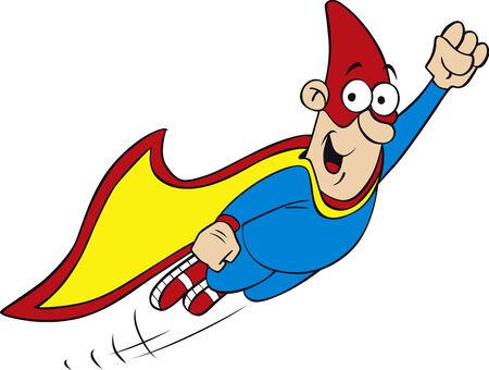 cartoon geek hero character
