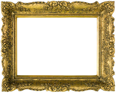 Old gilded golden wooden frame