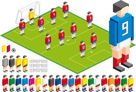 Ilustración de Vector illustration of Soccer tactical Kit, elements are in layers for easy editing - Imagen libre de derechos