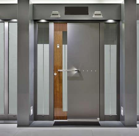 Massive Metallic Fireproof Front Door