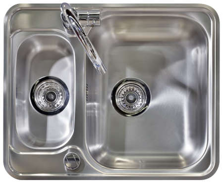 Stainless Water Tap and Wash Sinks Isolated