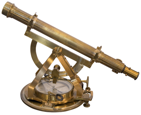 Photo for Old brass sextant instrument for measuring the ange between any two visible objects - Royalty Free Image