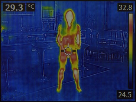 Photo pour Thermal Image of Human Body - image libre de droit