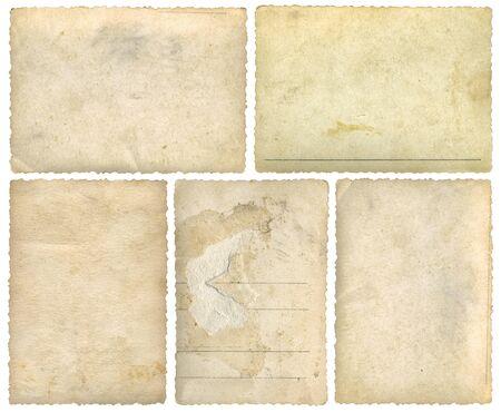 Foto de Five Old Empty Postcards Template Background Cutout - Imagen libre de derechos
