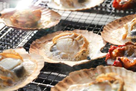 Photo pour Scallop Barbecue - image libre de droit