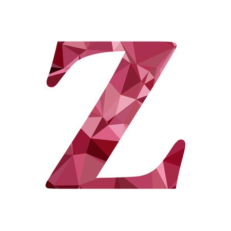 Red Alphabet z Polygon Style, Creative Design Templates: Royalty