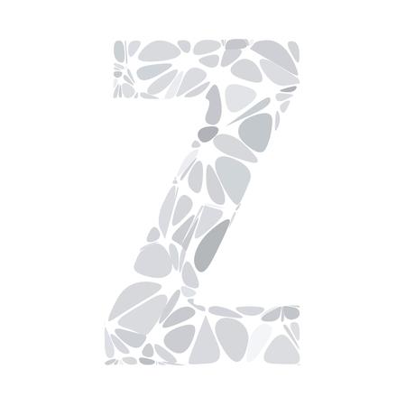 Illustration pour Gray White Alphabet z Cell Style, Creative Design Templates - image libre de droit