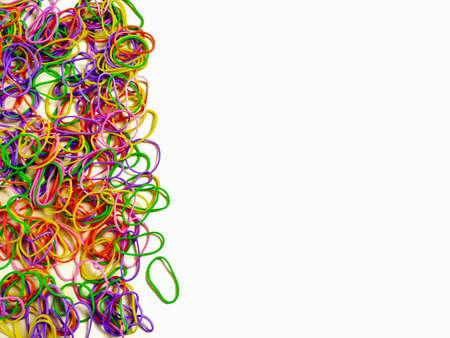 Photo pour Background of multicoloured rubber bands. Stock photo. - image libre de droit
