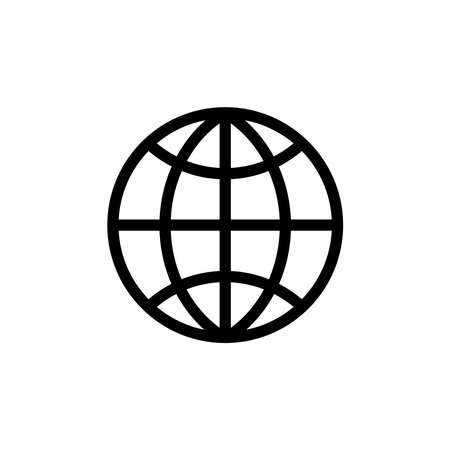 Illustration for Illustration Vector graphic of globe icon. Fit for world, travel, networking, navigation, logistics etc. - Royalty Free Image