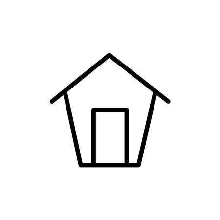 Illustration for Illustration Vector graphic of home icon. Fit for house, real estate, residential, cottage, etc. - Royalty Free Image