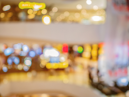 Abstract blurred photo of the Department store,shopping concept
