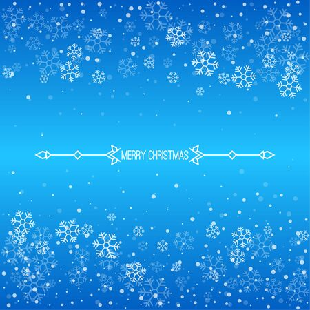 Illustration for Christmas winter blue background. - Royalty Free Image