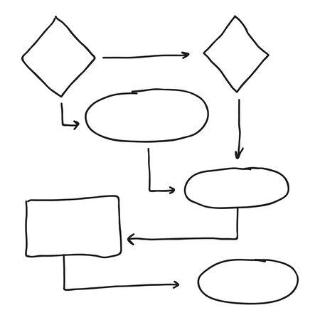 Illustration pour Abstract flowchart vector - image libre de droit