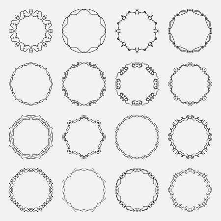 Illustration for Vector round frame. - Royalty Free Image