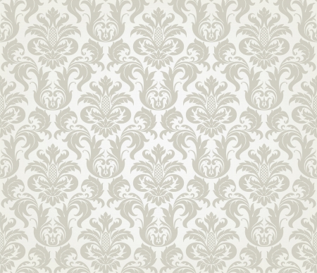 Foto de Vector seamless floral damask pattern for wedding invitation or vintage abstract background - Imagen libre de derechos