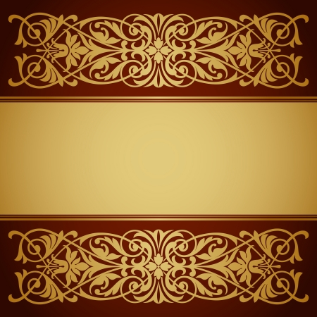 vector vintage gold border frame filigree with retro ornament pattern in antique baroque style ornate decorative background antique calligraphy design