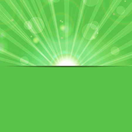 abstract background.sunbeams on a green background.eco background