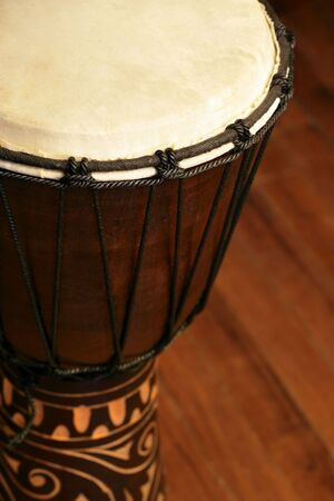 Selective focus image of a Djembe