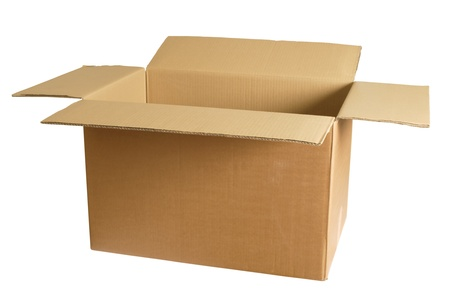 Photo of an empty cardboard box.