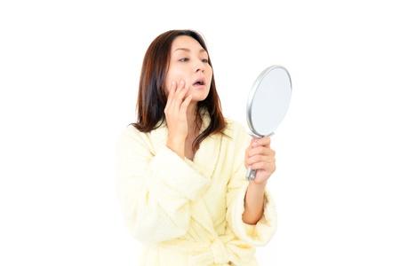 Women suffer from wrinkles