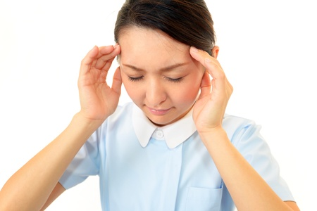 The nurse who is troubled with a headache