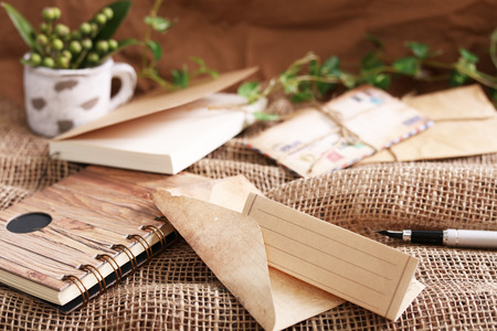 Envelope with writing paper