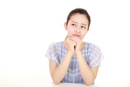 Woman who is worried