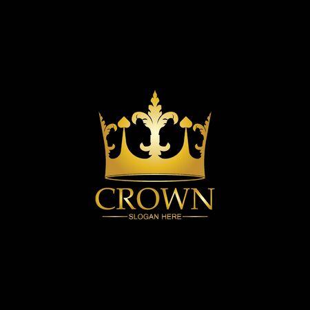 Illustration pour Crown Logo Template vector icon illustration design - image libre de droit
