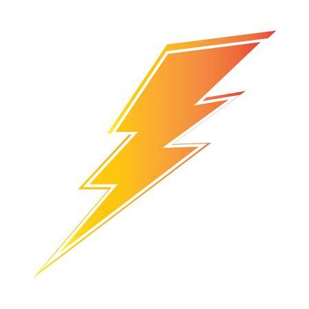 Illustration pour lightning thunderbolt electricity  design template - image libre de droit