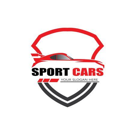 Illustration pour sport car logo template design vector - Vector - image libre de droit