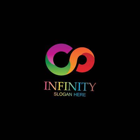 Ilustración de Infinity Design Vector icon illustration Logo template design - Imagen libre de derechos