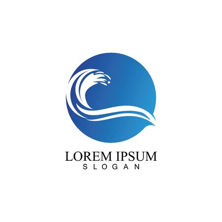 Illustration pour Water wave icon vector illustration design logo - image libre de droit