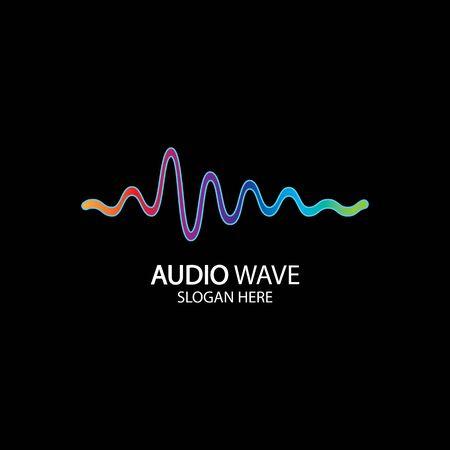 Illustration pour Music concept sound wave, Audio Technology, Abstract Shape - image libre de droit