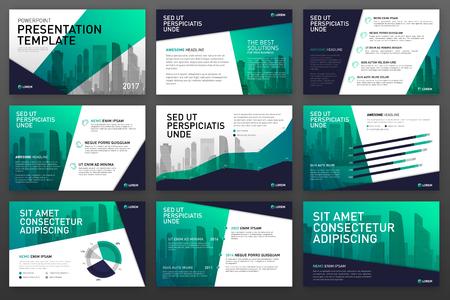 Illustration pour Business presentation templates with infographic elements. Use for ppt layout, presentation background, brochure design, website slider, corporate report. - image libre de droit