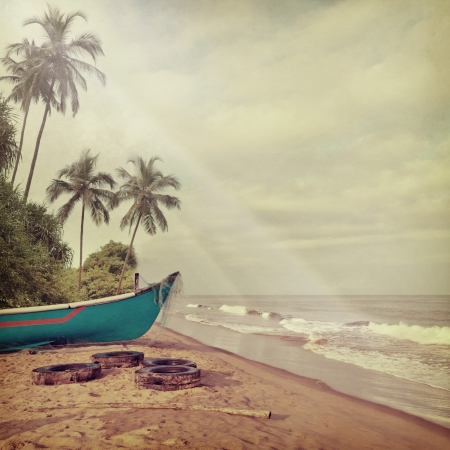 Photo pour Vintage beach background - image libre de droit