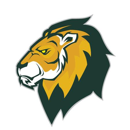 Illustration pour Lion head mascot - image libre de droit