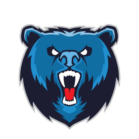 Ilustración de Bear head mascot - Imagen libre de derechos