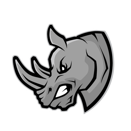 Ilustración de Rhino head mascot - Imagen libre de derechos