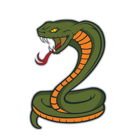 Illustration pour Cobra snake mascot - image libre de droit