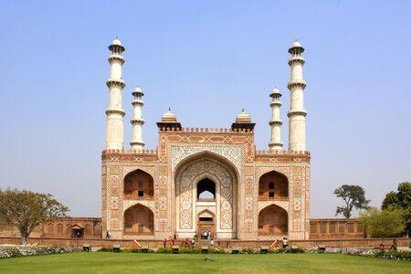 Entrance to Sikandra, Tomb of Akbar near Agra, India