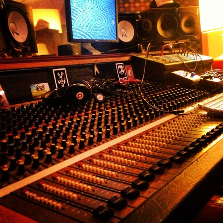 Mixing board from our studio sessions in Charleston SC