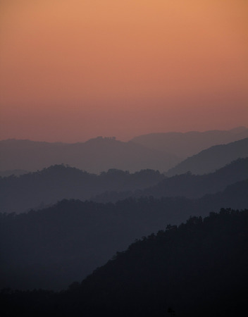Scenery Mountain range  Mae Hong Son  Thailand